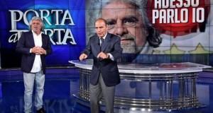 Beppe Grillo ospite da Bruno Vespa