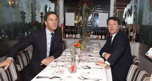 Renzi a cena col premier olandese per un Europa meno burocratica