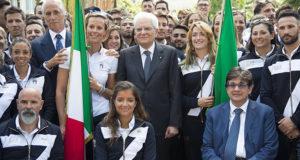Cerimonia di consegna della bandiera agli atleti italiani per Rio 2016