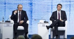 Putin: «Non escludo una nuova guerra fredda». Renzi: «Fuori dalla realtà»