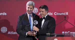 Matteo Renzi riceve il premio Global Citizen a New York
