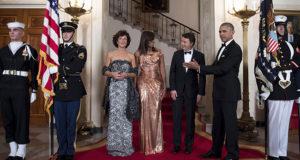Cerimonia di accoglienza alla cena di Stato presso la Casa Bianca