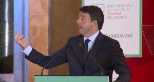 Renzi interviene agli Stati Generali della lingua italiana nel mondo