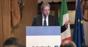 Paolo Gentiloni all'inaugurazione dell'autostrada Salerno Reggio Calabria