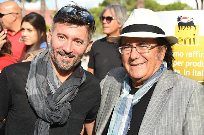 Max Biaggi e Albano Carrisi