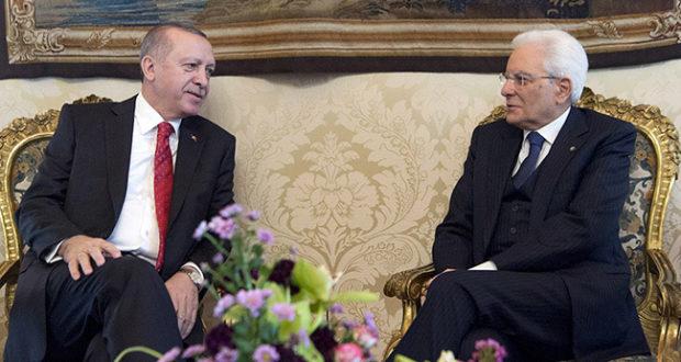 Sergio Mattarella incontra il Presidente turco Erdogan
